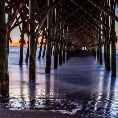 Taken at sunrise on Folly Beach in Charleston South Carolina