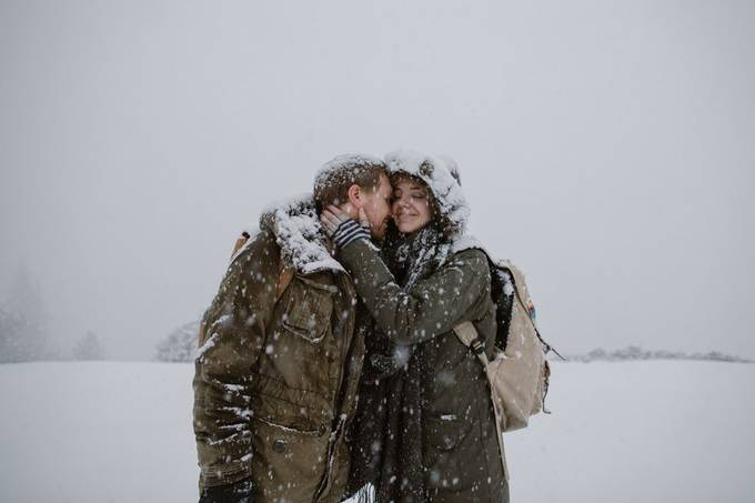 couple in a snow storm by eastlynandjoshua - We Love The Winter Photo Contest