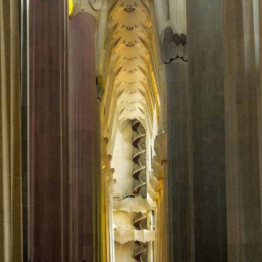stairs in the Sagrada familia cathedral, Barcelona, Spain