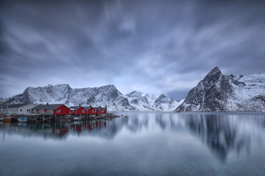 """This is the """"back"""" of the village Hamnøy in Lofoten - a little further to the ..."""