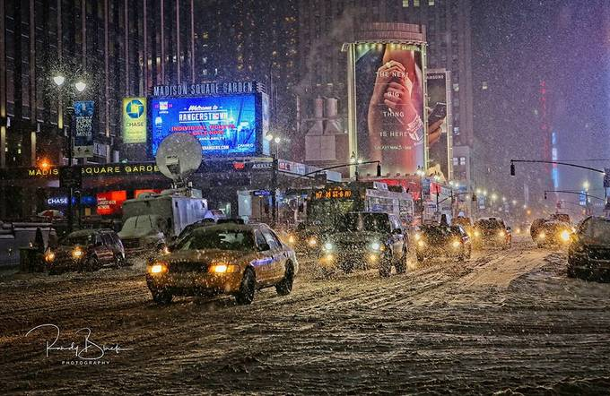 Blizzard, New York Style by randyblack - Bright City Lights Photo Contest