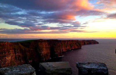 Summer Sun At The Cliffs Of Moher