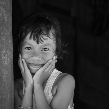 child in Bintan, Indonesia