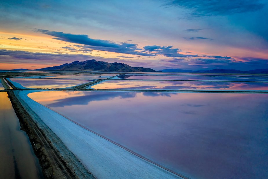 Sunset over the Salt Ponds