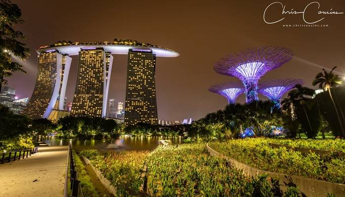 MBS and The Super Tree's by chriscousins - Bright City Lights Photo Contest