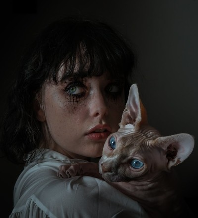 Lady and the cat