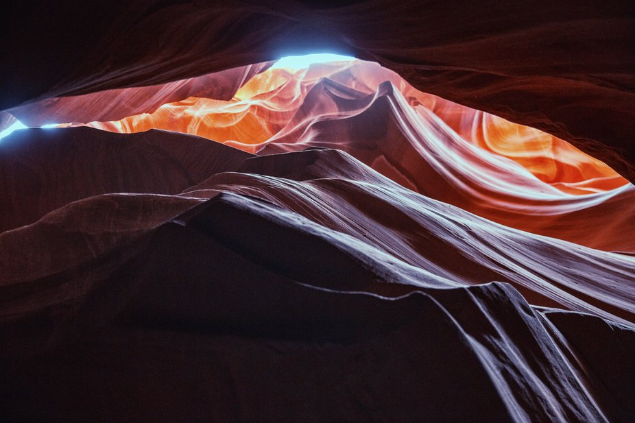 This is the first image that I edited from my visit to Antelope Canyon. I did so while also working at the Asian restaurant I cook at on the weekends and really enjoy the gradation of color from the bottom of the image to the top of the image.