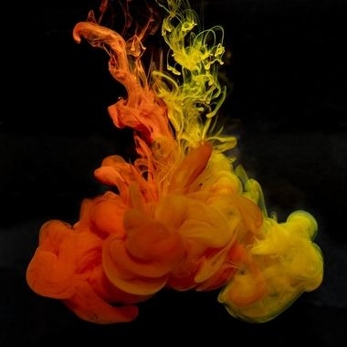 Ink dropped into water