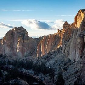 Smith Rock State Park in the winter is gorgeous. We stayed all through sunset trying to capture the light.