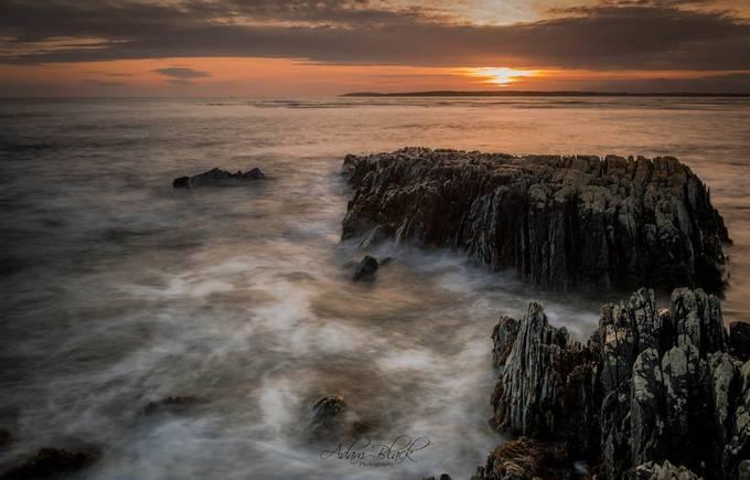 Ballyquintin Point sunset