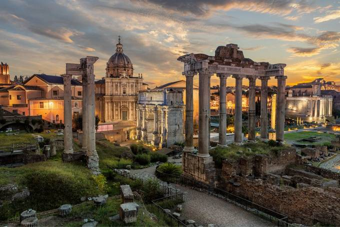Sunrise Over The Roman Forum by Komainu85 - I Love My City Photo Contest