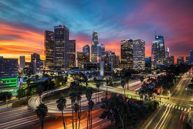 DTLA: Sunup R-top by ShabdroPhoto - Bright City Lights Photo Contest