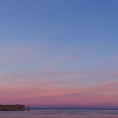Perce Rock in the Blue Hour - Gaspe Region, Quebec