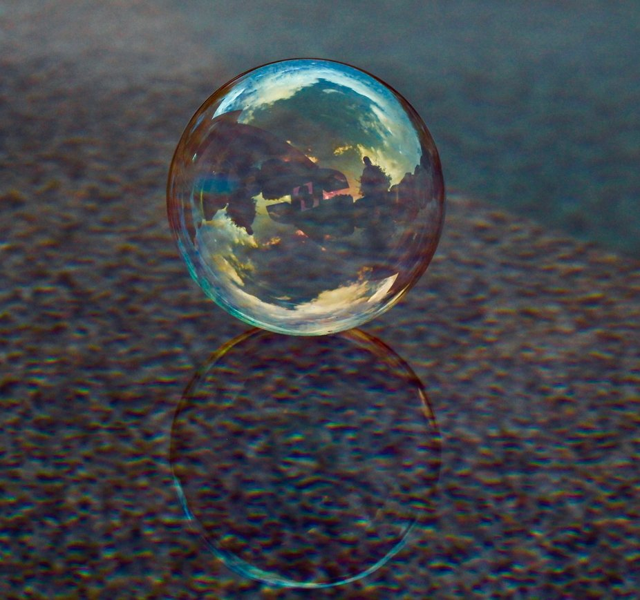 Trying to capture the beauty of one bubble.