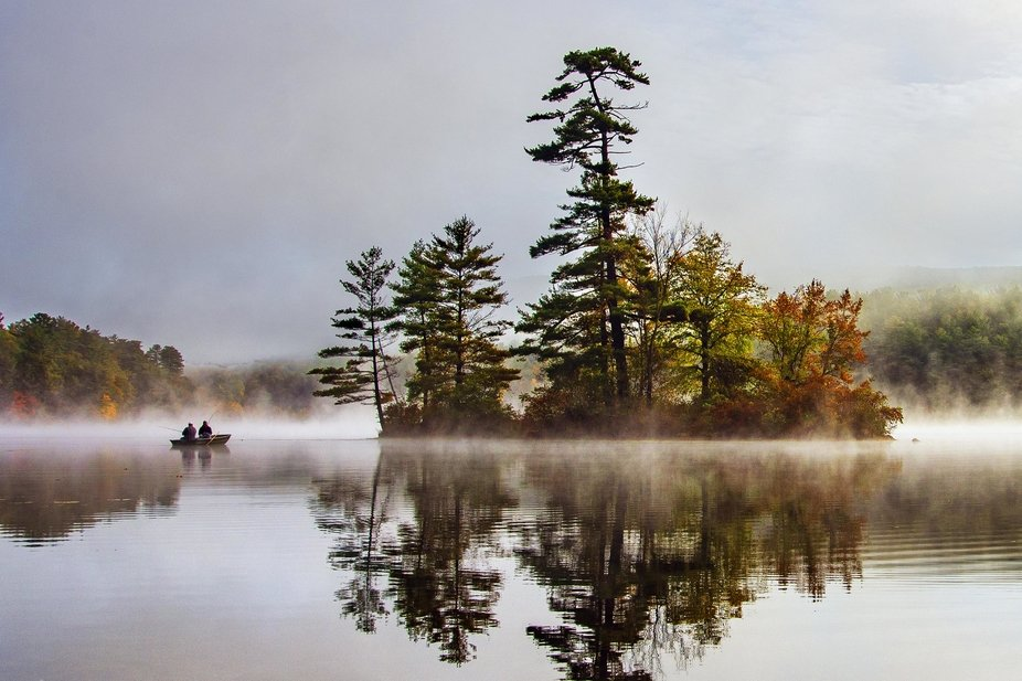 Fall in the Adirondacks at dawn