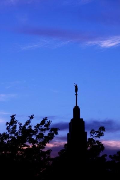Draper Temple at Sunset