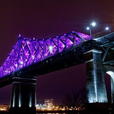 Jacques Cartier Bridge at Night - Montreal, Quebec, Canada