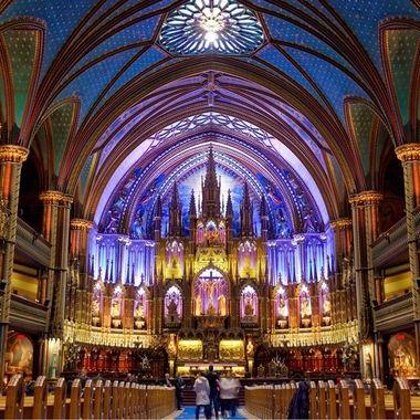 Notre Dame Basilica Altar - Montreal, Quebec, Canada