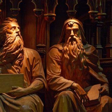 Statues and Shadows, Notre Dame Basilica - Montreal, Quebec, Canada
