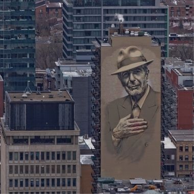 A Tribute to Greatness, Leonard Cohen Mural - Montreal, Quebec, Canada