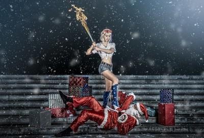 Harley Quinn  meets Santa