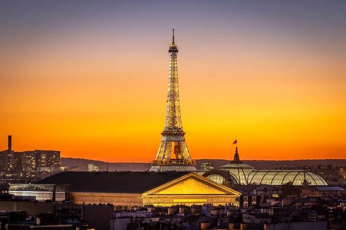 Sunset on the Eiffel tower in Paris by FredericMONIN - This Is Europe Photo Contest