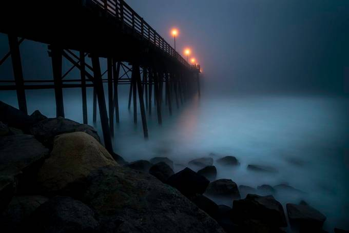 Foggy night in Oceanside by larrymarshall - Monthly Pro Photo Contest Vol 48