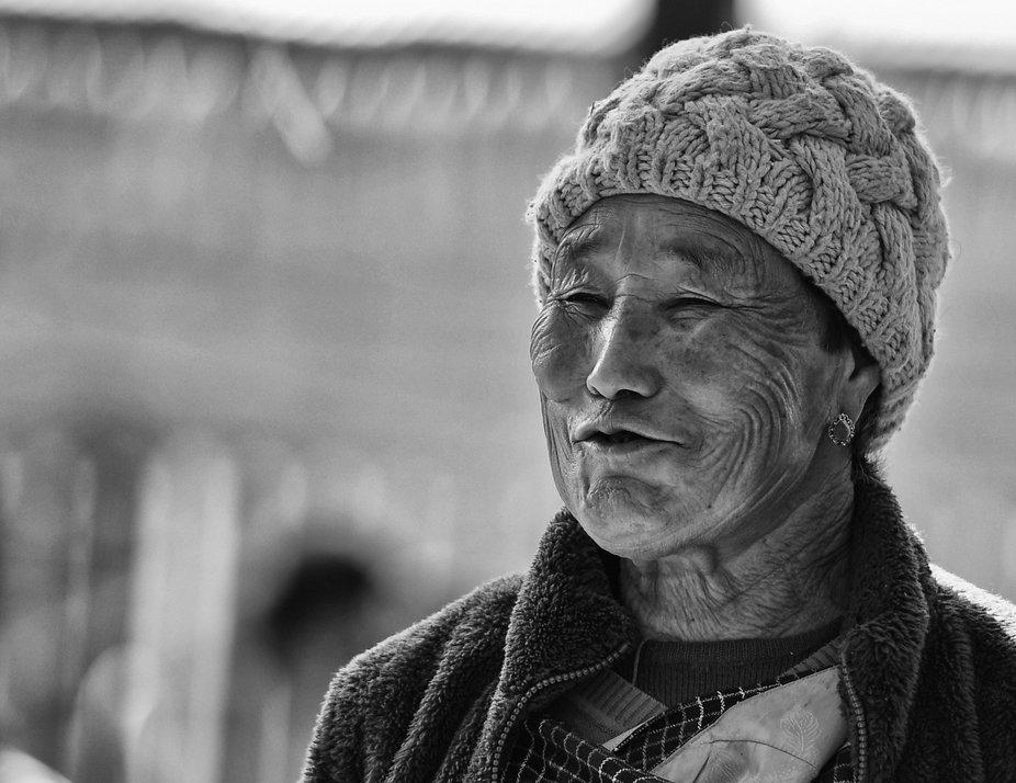 a woman in Bhutan