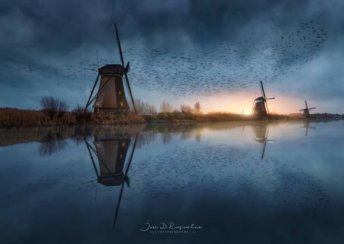 Kinderdijk by JoseDRiquelme - Shooting The Blue Hour Photo Contest