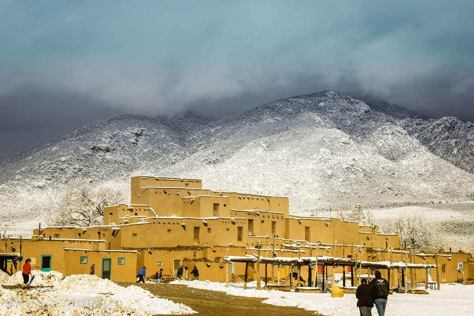 Taos Pueblo, built in 1000 AD and still occupied