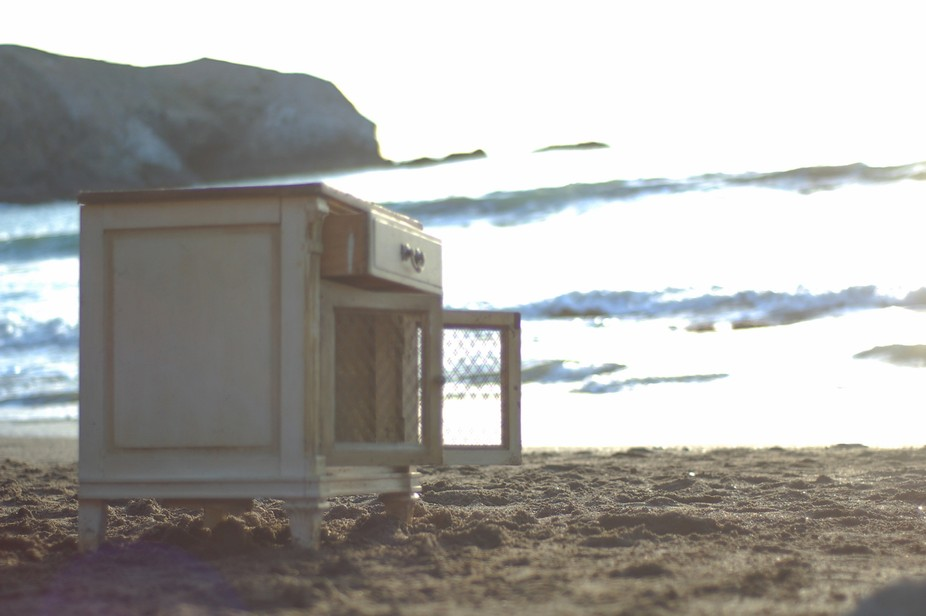 As soon as I saw this cupboard on the beach, this was the image that I wanted to capture.  It had...