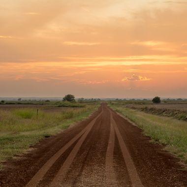 Road in Wakita Oklahoma where the movie Twister was filmed