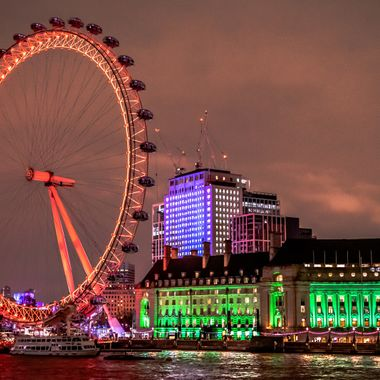 a beautiful night photo taken of the London Eye in London from Westminster bridge whilst on my latest holiday there.