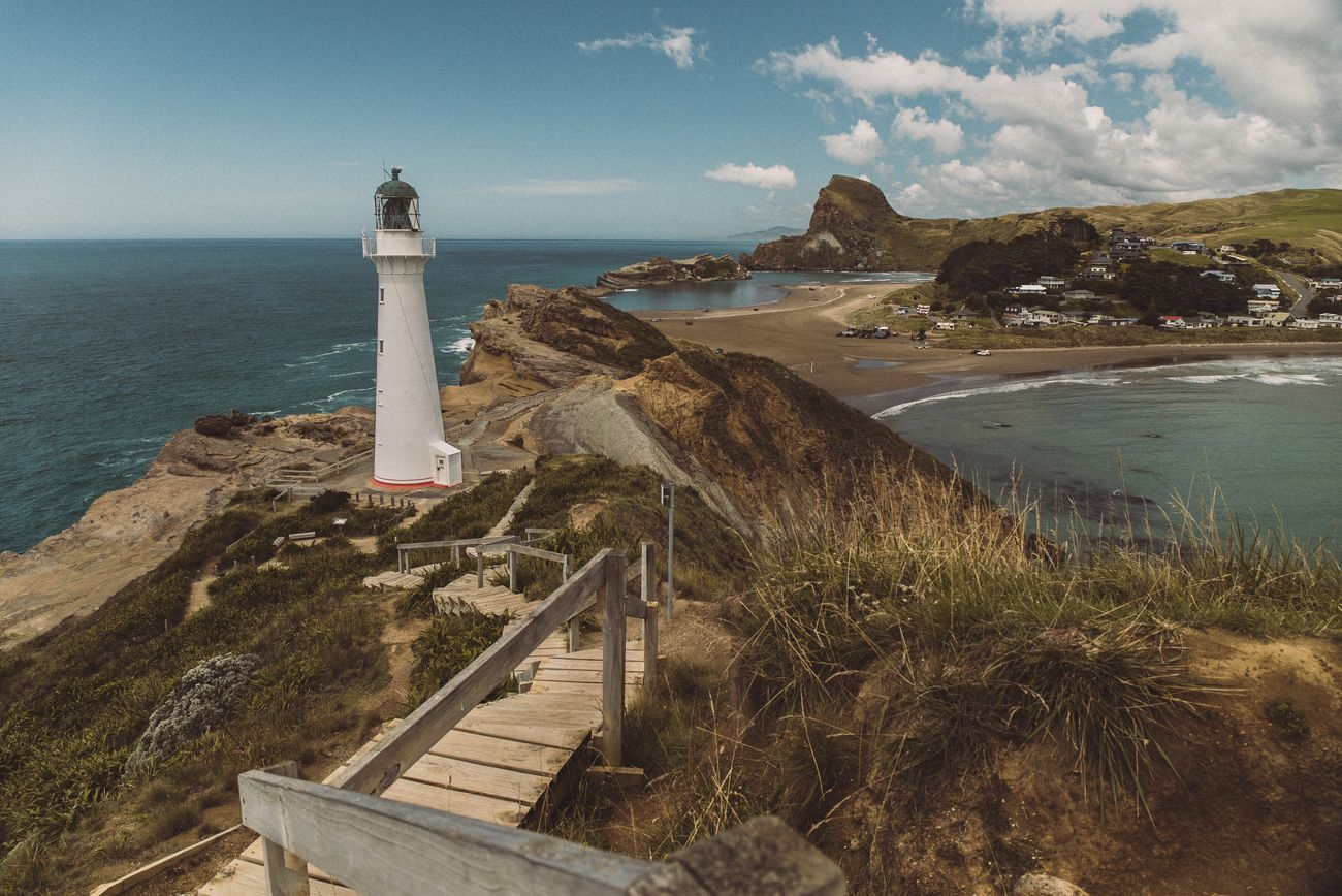 The iconic lighthouse of Castlepoint is the most famous in New Zealand. It appears in the credits of the New Zealand news.