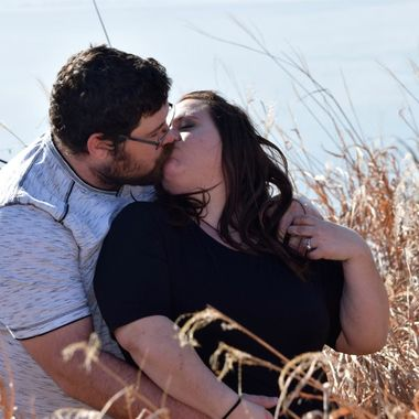 Newly engaged couple.