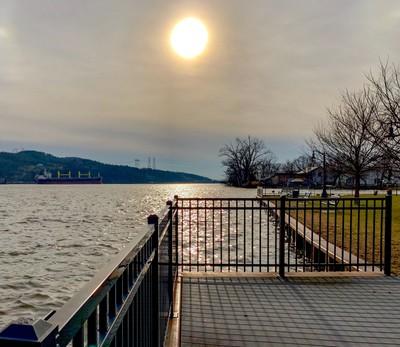 Hudson River in Winter at Athens NY