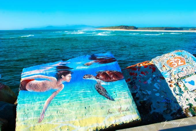 Mural - Wellington Rocks NSW Australia