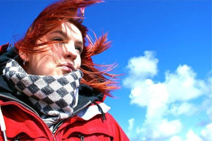 Red Hair Blowing In The Wind by ELHPhotography - Wind In Nature Photo Contest