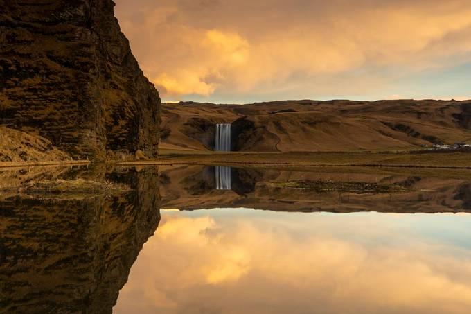 Skógafoss at yellow sunrise by Jonrunar - Monthly Pro Photo Contest Vol 48