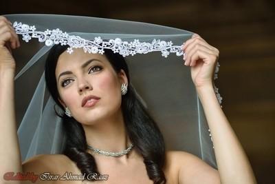 Beauty under white Net