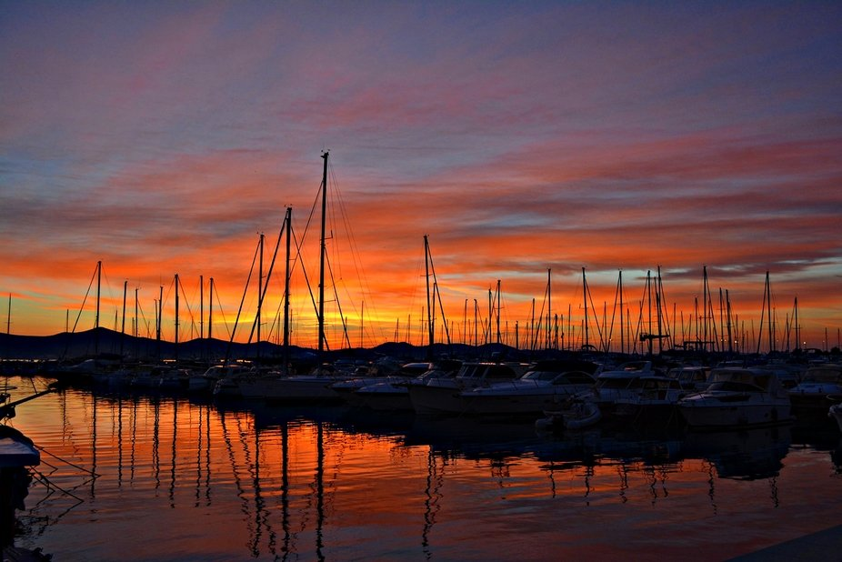 Zadar marina at dawn