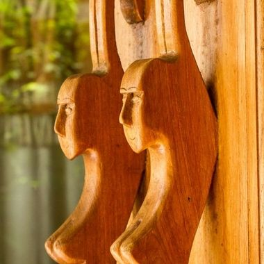 Door handles at one of the cottages at Santhyia hotel, Koh Phangan, Thailand