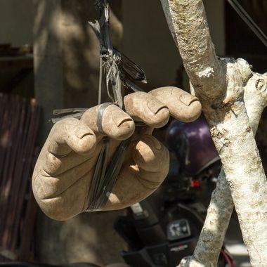 symbolic hand for peace in Ubud, Bali