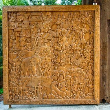One part of the gate at Santhiya hotel, Koh Phangan