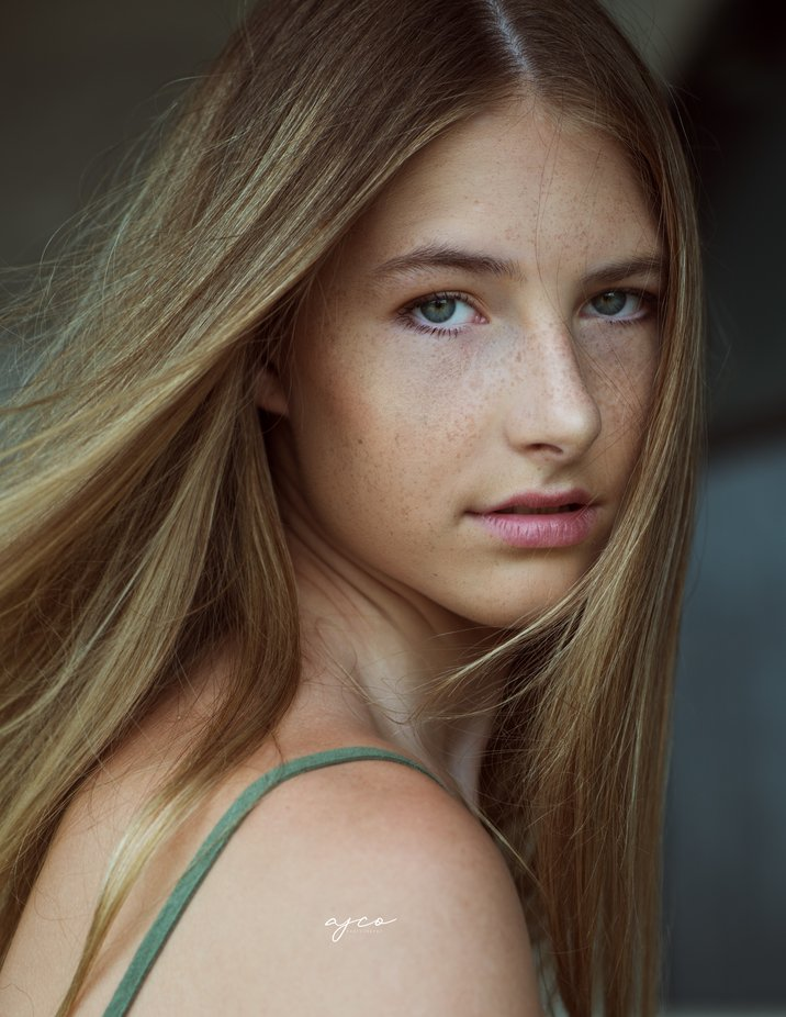 Ella by ajcophotography - Green Eyes Photo Contest