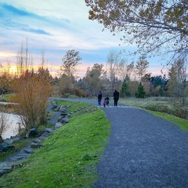 End of a photo shoot at Salish Ponds Wetlands Park in Fairview, Oregon.