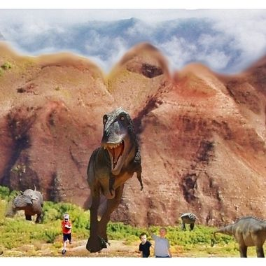 This is a composite made of photos I took that was similar to the Jurassic World Fallen Kingdom movie scene.