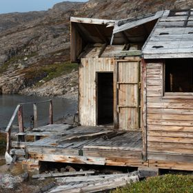 cabin used for slaughter of the occasional ice bear on Greenland
