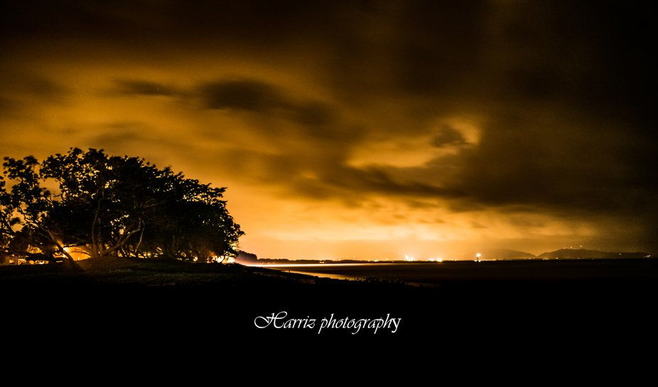 Quite long journey to the location stop at the side of road and set up the tripod and take the pi...