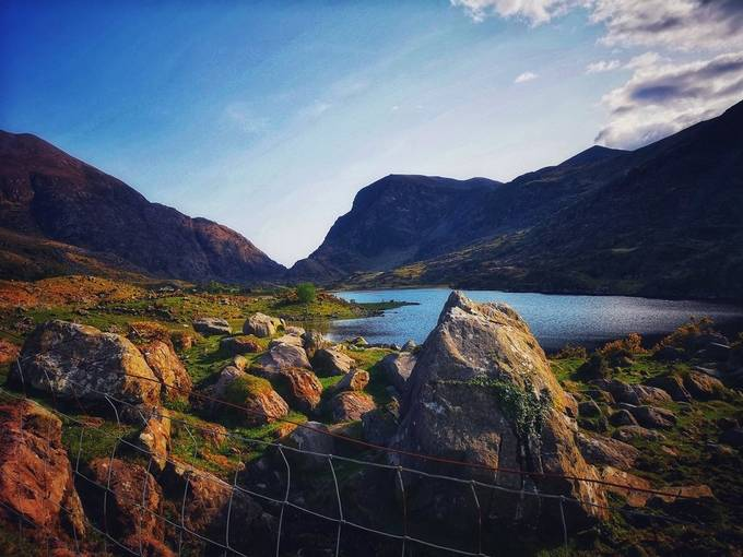 Beautiful scene from Ireland. Gap of dunloe is perfect destination to be found